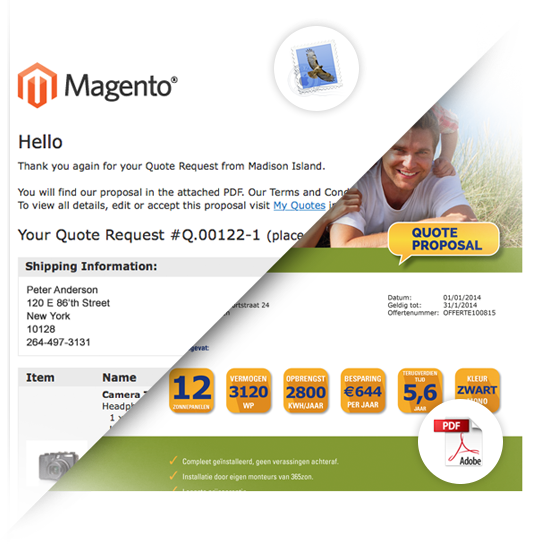 magento quote pdf proposal