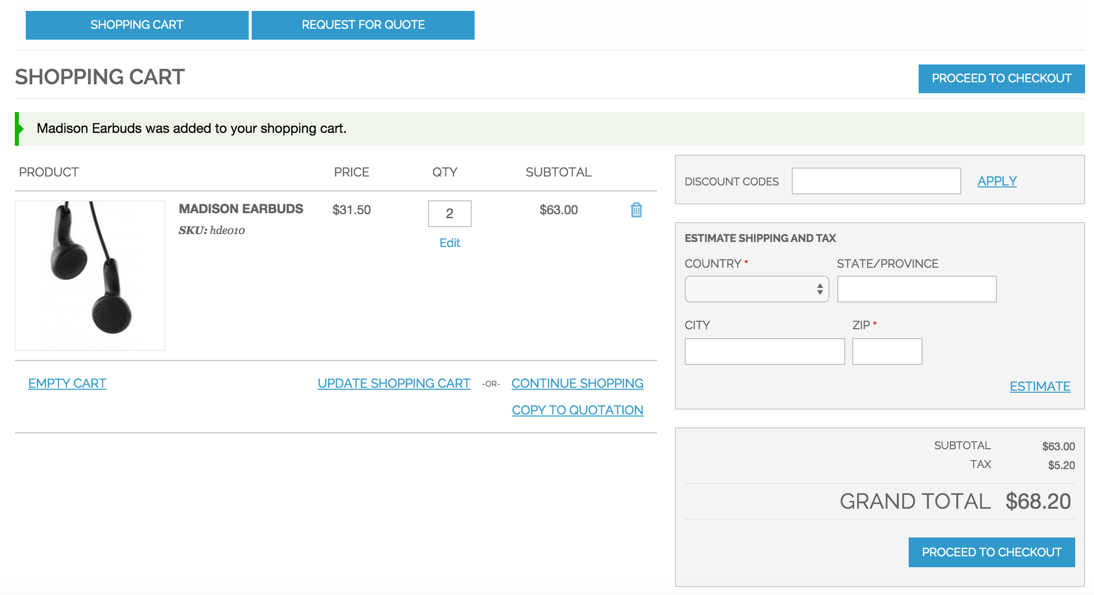 Shipping Quote User Manual  Cart2Quote For Magento 1