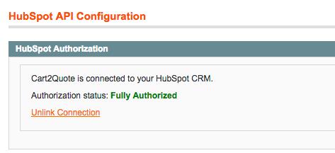 Activated HubSpot API