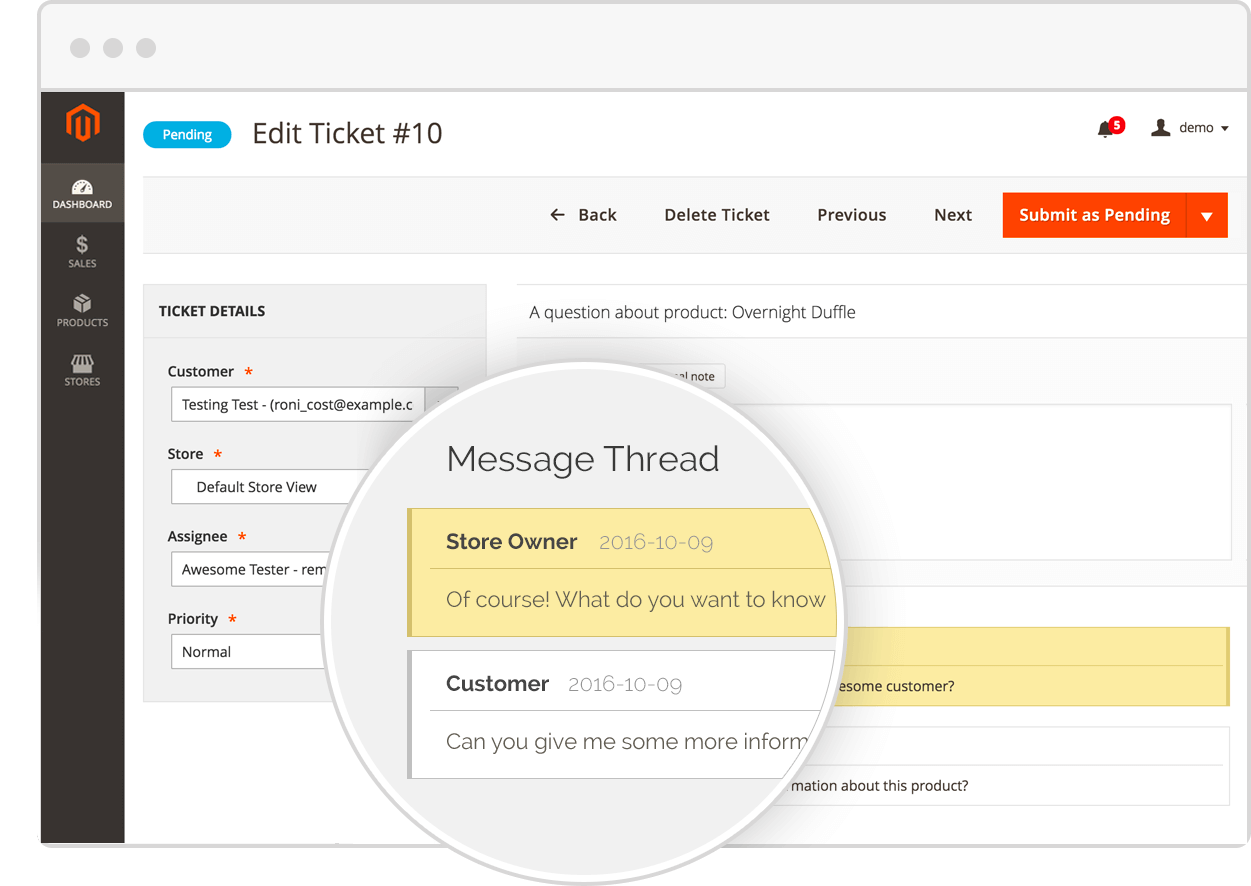 Magento Customer Support Extension