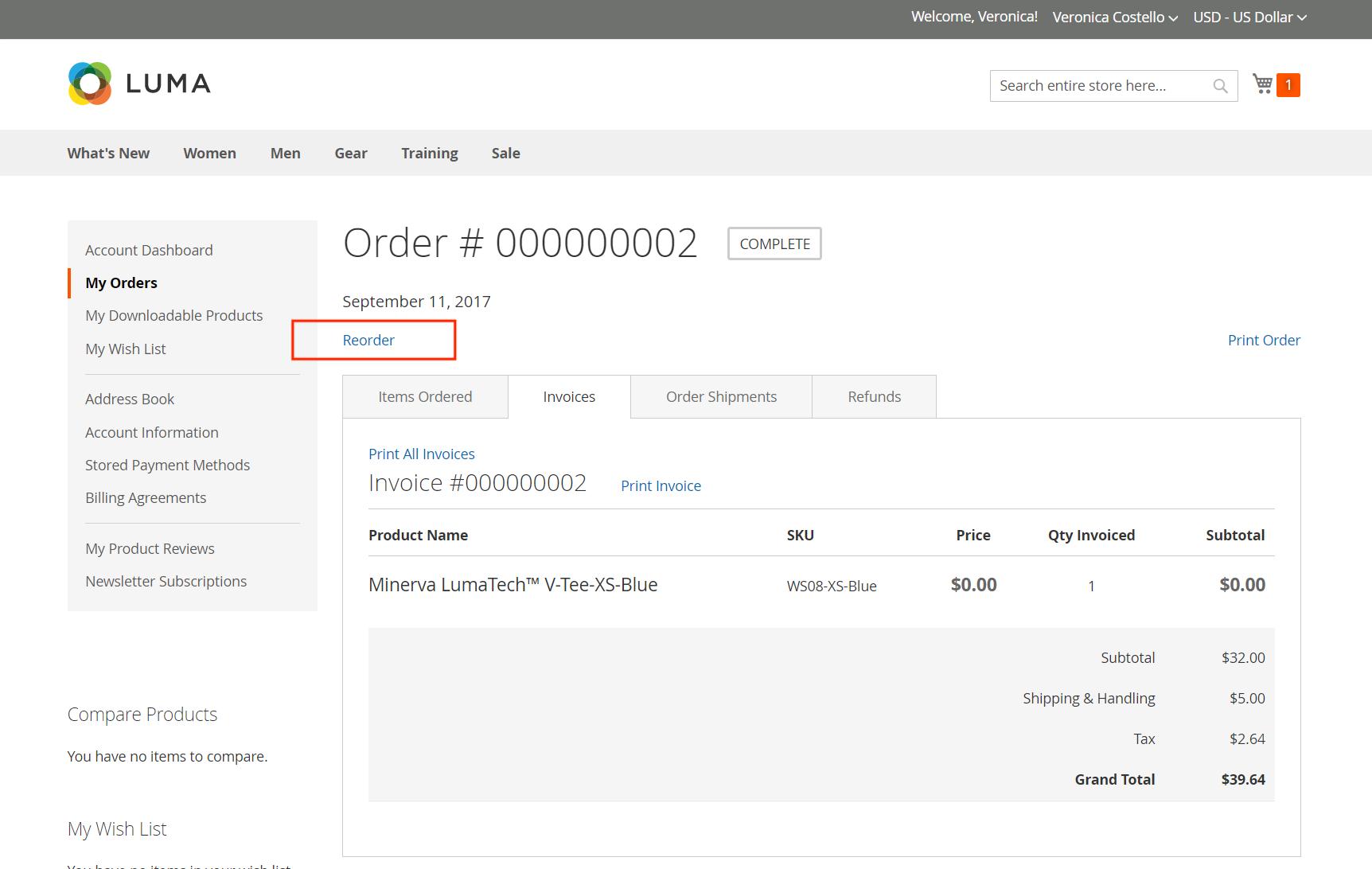user-friendly order preparation