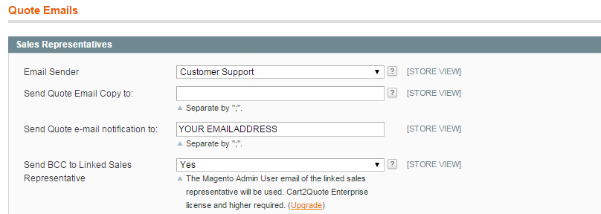 Magento Quote Notification Email