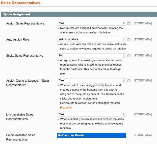 Sales Reps roles in Magento